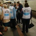 Акция пенсионеров в метро