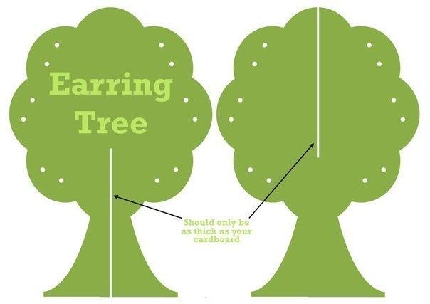 Дерево для сережек